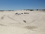 Jeep club at the Atlantis Dunes 4WD-trail