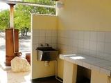 Communual dishwashing & prep area at camp sites