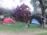 The campsite is small but nice