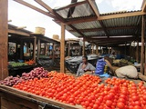 You will find the freshest vegetables at the local food market