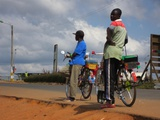 Bicycle taxis in Mzuzu