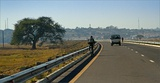 Mongu from Barotsi Floodplain Bridge