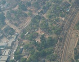 Aerial view of Vic Falls town