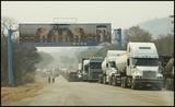 Trucks at Chirundu border