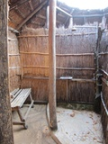 Open-air showers are rustic but clean