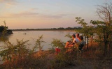 Sundowner at Malama Umoyo along the Luangwa River