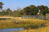 View over channel and bridge Savuti