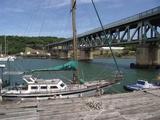 Double-decker bridge over the Buffalo River