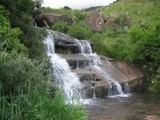 Waterfall near border