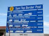 Road fees at the Lesotho border post (top of Sani Pass)