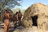 Traditional Bushman grass hut