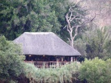 Camp Site Bar - View from Chobe River Boat