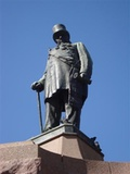 Statue of the Boer leader and president of the South African Republic Paul Kruger