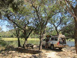 The picnic site at Mizelume Dam